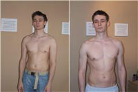 Matt before and after training with BigT