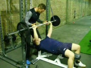 City of London personal trainer Trystan with client